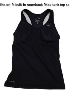 Nike dri-fit built-in racerback fitted tank top xs